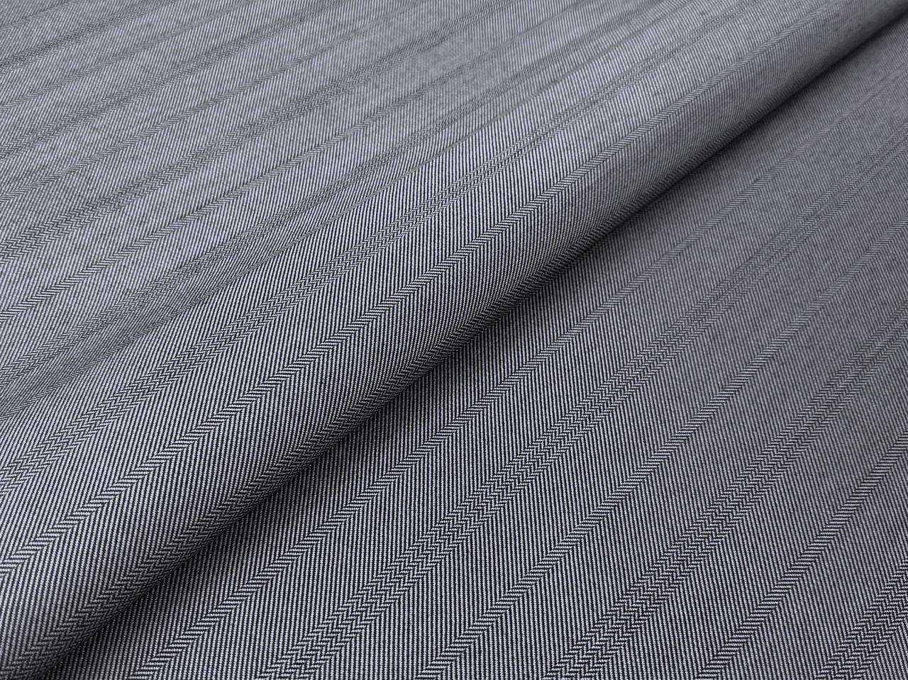 Ткань Костюмная Вива полоска елочка 25 мм, серый