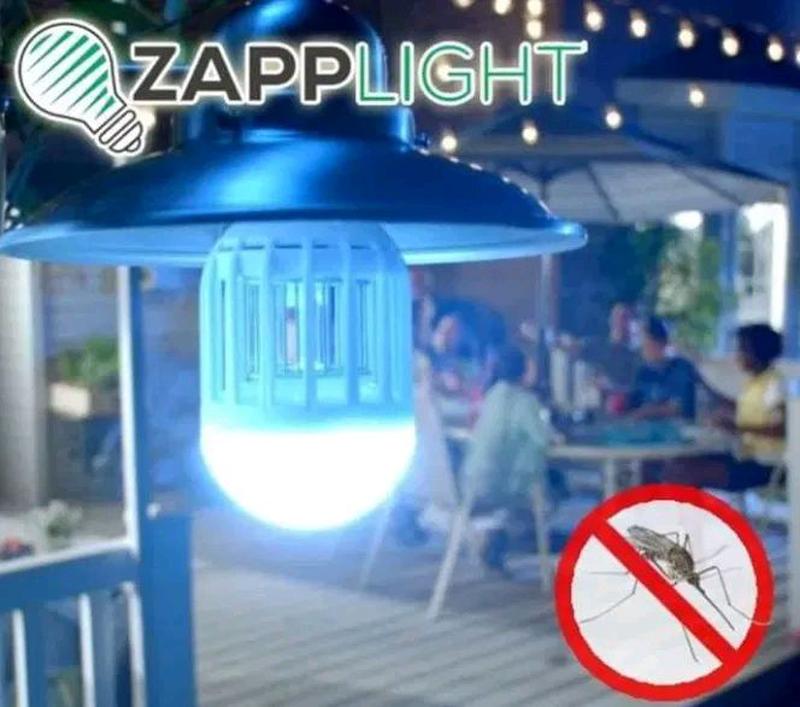 Антимоскитная Лампа Светодиодная Ловушка Уничтожитель Комаров Zapp Light