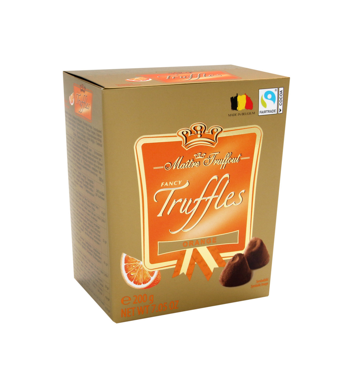 Конфеты Трюфель апельсиновый Maitre Fruffout