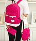 Рюкзак женский городской школьный Kaila Werin Розовый, фото 3