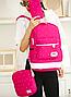 Рюкзак женский городской школьный Kaila Werin Розовый, фото 4