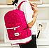 Рюкзак женский городской школьный Kaila Werin Розовый, фото 5