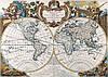 Старинная карта 100см х 72см