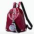 Рюкзак женский кожзам Kaila LAZADA с брелком Бордовый, фото 2