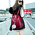 Рюкзак женский кожзам Kaila LAZADA с брелком Бордовый, фото 3