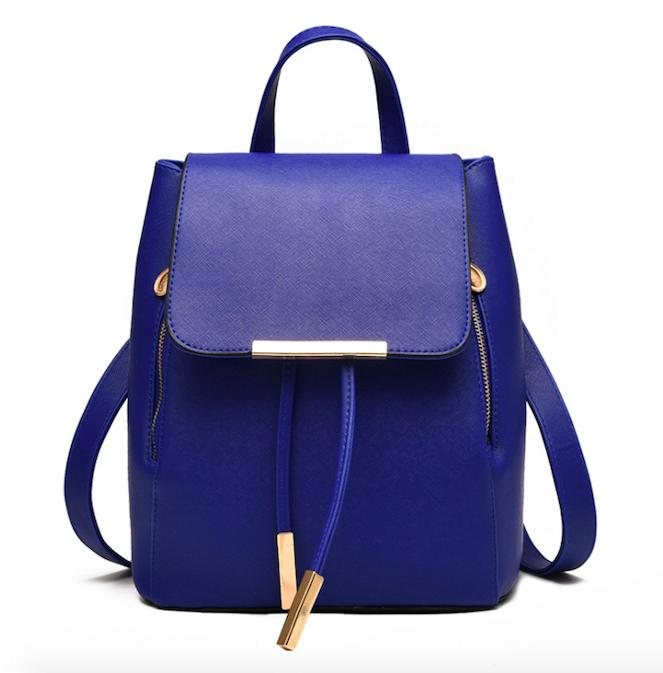 Рюкзак женский из кожзама на шнурке Kaila Glamur Синий