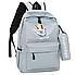Рюкзак городской молодежный Kaila с пеналом Серый, фото 2