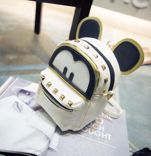 Рюкзак женский сумка мини Kaila Mickey Mouse Бежевый