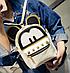 Рюкзак женский сумка мини Kaila Mickey Mouse Бежевый, фото 4