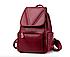 Рюкзак женский из кожзама Kaila Vanoton Черный Бордовый, фото 2