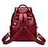 Рюкзак женский из кожзама Kaila Vanoton Черный Бордовый, фото 4