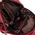 Рюкзак женский из кожзама Kaila Vanoton Черный Бордовый, фото 8