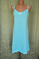 Женская ночнушка. Хлопок. Голубой  50-52 р., фото 1