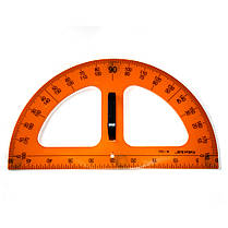 Креслярський набір для дошки на магнітах: 2 трикутник, транспортир, циркуль, лінійка, в ПВХ чохлі (5 шт), фото 3