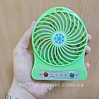 Настольный мини вентилятор XS-01 на аккумуляторе. Портативный мини вентилятор, фото 8