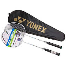 Ракетки для бадмінтону 2 штуки Yonex NanoSpeed в чохлі + Подарунок воланчик, фото 3
