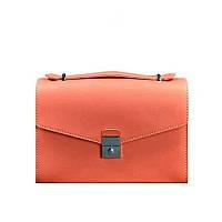 Женская кожаная сумка-кроссбоди Blanknote Lola Живой коралл, фото 1