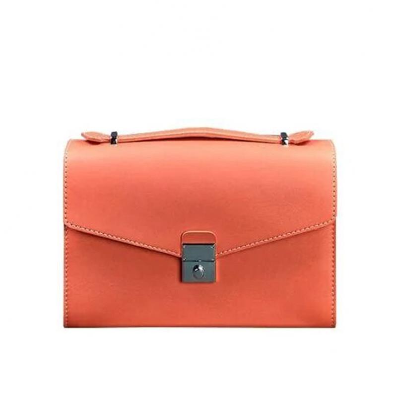 Женская кожаная сумка-кроссбоди Blanknote Lola Живой коралл