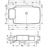 Axor Bouroullec Раковина настенная, 866х503мм, одна полочка, фото 2