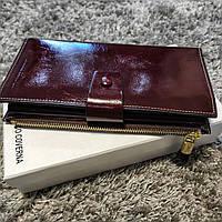 Коричневый женский кошелек клатч из гладкой кожи Marco Coverna
