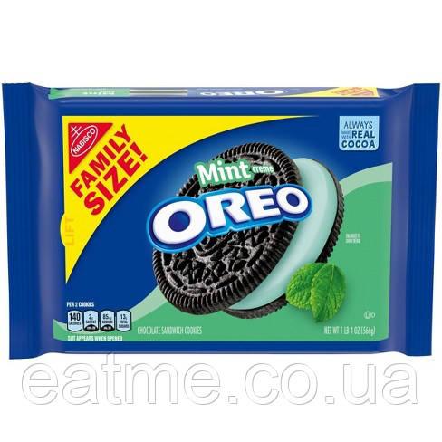 Oreo mint Шоколадное печенье с мятной начинкой