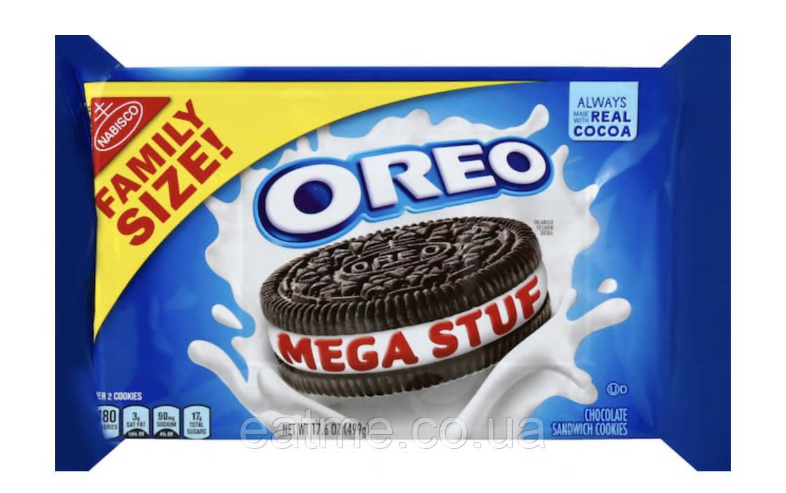 Oreo MEGA STUF Шоколадное печенье с тройной молочной начинкой