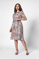 Стильное платье в увеличенном размере с воротничком