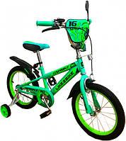Двухколесный детский велосипед 16 дюймов Like2bike Sprint Зелёный