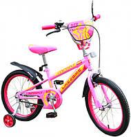 Двухколесный детский велосипед 16 дюймов Like2bike Sprint Розовый