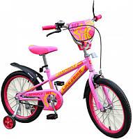 Двухколесный детский велосипед 14 дюймов Like2bike Sprint Розовый