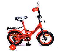 """Детский двухколёсный велосипед 12"""" с ручным тормозом и страховочными колёсами Tilly Extreme Bike 181230"""