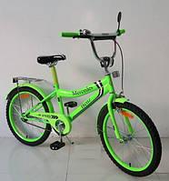 Велосипед 2-х колес 20'' 172036 со звонком,зеркалом,ручной тормоз,без дополнительных колес