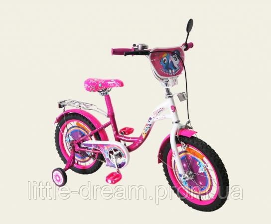 Велосипед 2-х колес 16'' 171621 со звонком,зеркалом,ручной тормоз