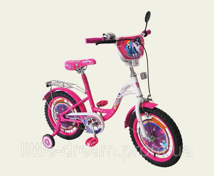 Велосипед 2-х колес 16'' 171620 со звонком,зеркалом,ручной тормоз