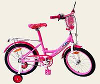 Велосипед 2-х колес 16'' 161603 со звонком,зеркалом,ручной тормоз