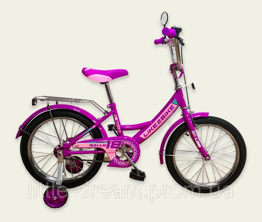 "Велосипед 2-х колёс 14"" 191417 Like2bike RALLY, фиолетовый"