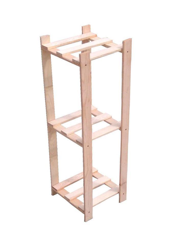 Подставка для цветов деревянная 3 полки DFLOW3