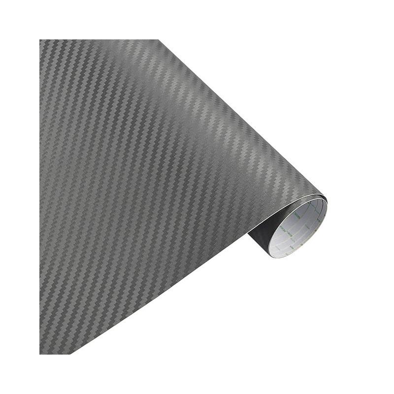 Карбоновая пленка 3D рулон 60х150 см СЕРАЯ с микроканалами
