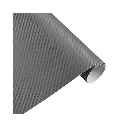 Карбоновая пленка 3D рулон 60х150 см СЕРАЯ с микроканалами, фото 2