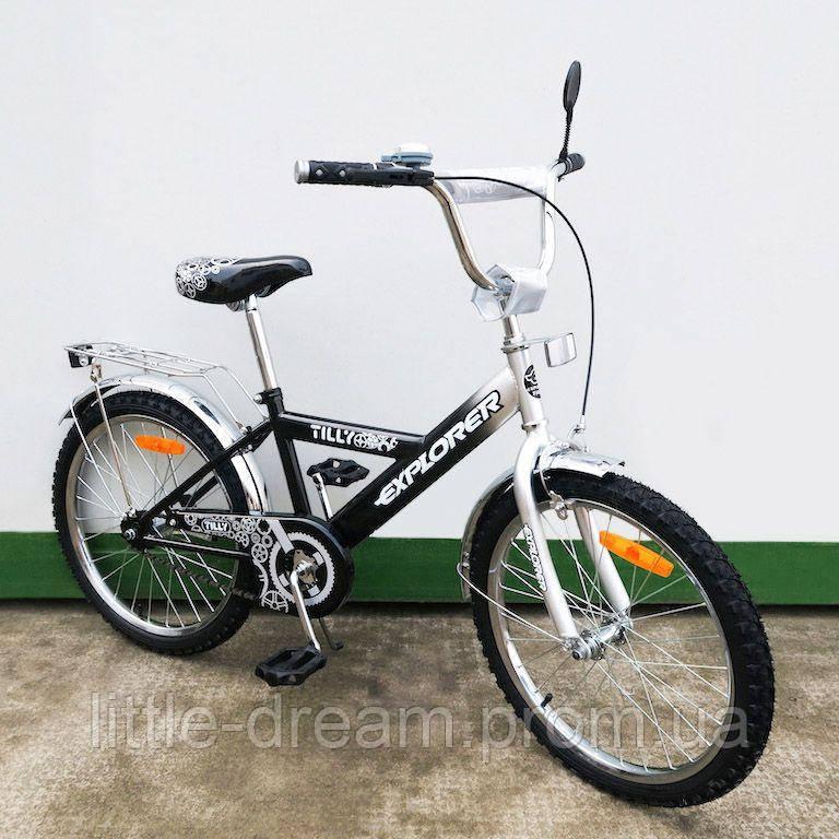"""Велосипед Tilly Explorer 20"""" T-22017 black + grey"""