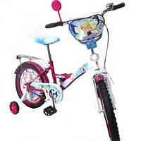 """Велосипед Tilly Чарівниця 18"""" T-21828 pink + blue с дополнительными колесами"""