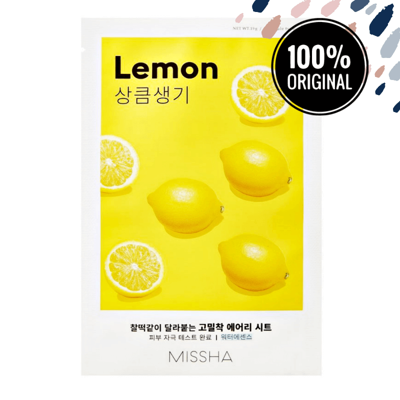 Цілюща тканинна маска з лимоном MISSHA Airy Fit Sheet Mask Lemon