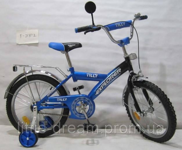 Велосипед Explorer 18'' T-21812 blue + black