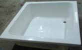 Акриловый квадратный душевой поддон VIVIA глубокий 25 см 90*90