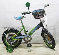 Велосипед TILLY Мотогонщик 14'' T-21423 light green + black
