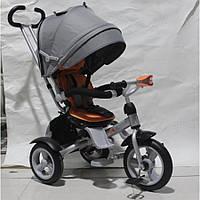 Детский трехколесный велосипед Crosser T-503 AIR (серо-оранжевый)