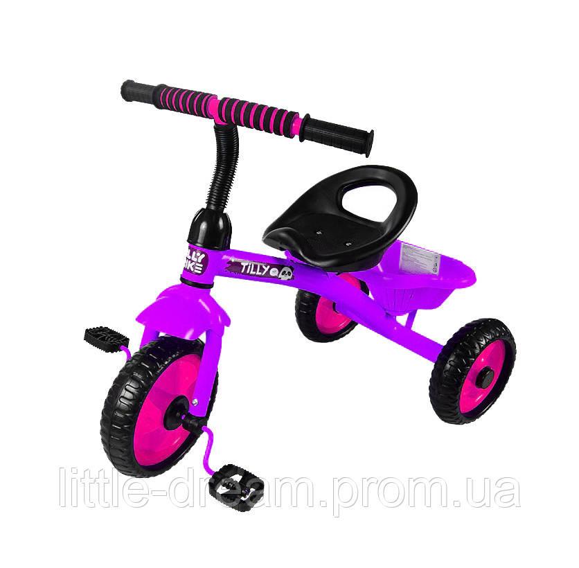 Детский трехколесный велосипед Tilly Trike  Фиолетовый