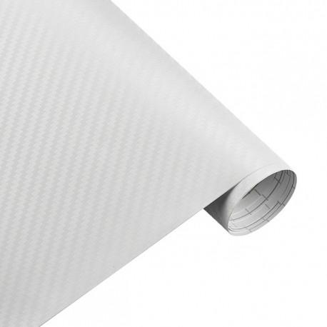 Карбонова плівка 3D рулон 60х150 см БІЛА з микроканалами