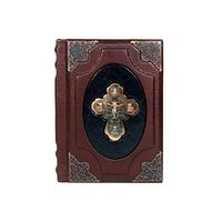 Библия малая (металлический крест)