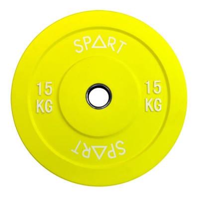 Бамперный диск Spart Bumper Plates Color 15 kg, фото 2